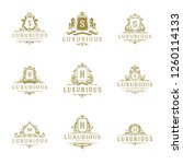 luxury logos monograms crest... | Shutterstock .eps vector #1260114133