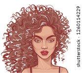 cute girl illustration.... | Shutterstock .eps vector #1260114229