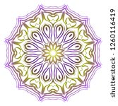 ornamental round lace. sacred... | Shutterstock .eps vector #1260116419
