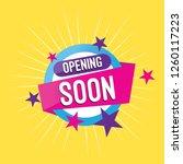 opening soon banner 01 | Shutterstock .eps vector #1260117223