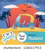 welcome thailand concept banner.... | Shutterstock . vector #1260117913