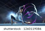Beautiful Rhythmic Gymnast In...
