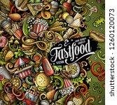 fastfood hand drawn vector... | Shutterstock .eps vector #1260120073