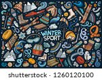 colorful vector hand drawn... | Shutterstock .eps vector #1260120100