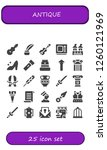 vector icons pack of 25 filled... | Shutterstock .eps vector #1260121969