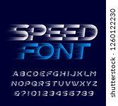 speed alphabet font. fast speed ... | Shutterstock .eps vector #1260122230