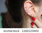ear piercings photos.helix... | Shutterstock . vector #1260123403