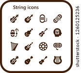 vector icons pack of 16 filled... | Shutterstock .eps vector #1260125236