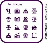 vector icons pack of 16 filled... | Shutterstock .eps vector #1260125419