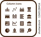 vector icons pack of 16 filled... | Shutterstock .eps vector #1260128416