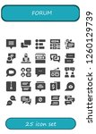 vector icons pack of 25 filled... | Shutterstock .eps vector #1260129739