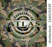 atlas camo emblem | Shutterstock .eps vector #1260131539
