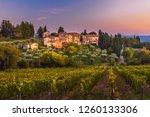 view on hamlet fonterutoli on... | Shutterstock . vector #1260133306