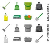 vector design of cleaning and... | Shutterstock .eps vector #1260135553