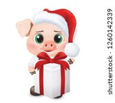 cute pig character. happy new... | Shutterstock .eps vector #1260142339