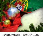 portugal flag happy new year ... | Shutterstock . vector #1260143689