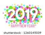happy new year 2019 background... | Shutterstock .eps vector #1260145039