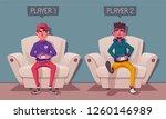 friends is gaming. nerds room... | Shutterstock .eps vector #1260146989
