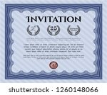blue invitation template. with... | Shutterstock .eps vector #1260148066