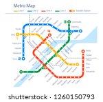 fictional subway map urban... | Shutterstock .eps vector #1260150793