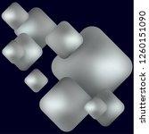 gray geometric shapes rhombus... | Shutterstock .eps vector #1260151090