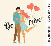 valentines day vector... | Shutterstock .eps vector #1260154753