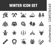 this is a set of winter icons.... | Shutterstock .eps vector #1260156163