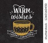 merry christmas. typography.... | Shutterstock .eps vector #1260160450