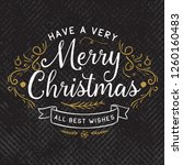 merry christmas. typography.... | Shutterstock .eps vector #1260160483