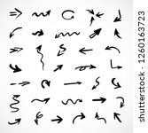 hand drawn arrows  vector set | Shutterstock .eps vector #1260163723