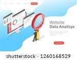 flat isometric vector landing... | Shutterstock .eps vector #1260168529