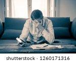 worried and desperate... | Shutterstock . vector #1260171316