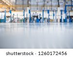 epoxy floor in interior car... | Shutterstock . vector #1260172456