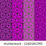 set of geometric seamless... | Shutterstock .eps vector #1260181390