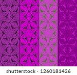 set of geometric seamless... | Shutterstock .eps vector #1260181426
