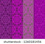 set of geometric seamless... | Shutterstock .eps vector #1260181456