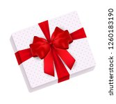 gift box with bow  illustration  | Shutterstock . vector #1260183190