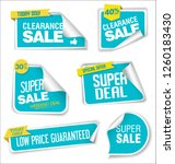 modern sale banners and labels... | Shutterstock .eps vector #1260183430