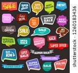 modern sale banners and labels... | Shutterstock .eps vector #1260183436
