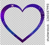vector fantastic galaxy heart... | Shutterstock .eps vector #1260187993