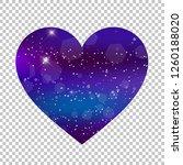 vector fantastic galaxy heart... | Shutterstock .eps vector #1260188020