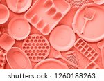 coral color background made of... | Shutterstock . vector #1260188263