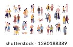 bundle of couples dressed in... | Shutterstock .eps vector #1260188389