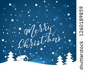 christmas typographical with... | Shutterstock .eps vector #1260189859
