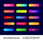 web buttons flat design with... | Shutterstock .eps vector #1260192649