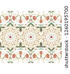 seamless vector floral border... | Shutterstock .eps vector #1260195700