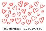 trendy pink color vector paint...   Shutterstock .eps vector #1260197560