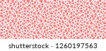 trendy coral color little... | Shutterstock .eps vector #1260197563