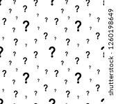 the question mark seamless... | Shutterstock .eps vector #1260198649