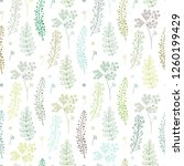 seamless pattern with green... | Shutterstock .eps vector #1260199429